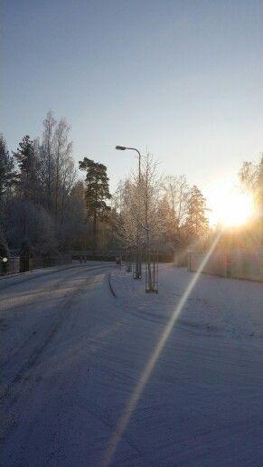 A winter sunrise from early January in Järvenpää, Finland. //Photo by Salla Illikainen
