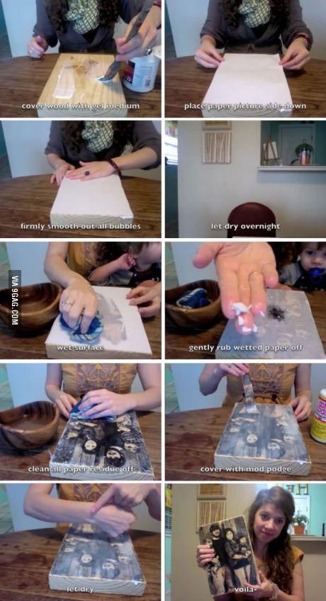 Cómo pasar una fotografía a madera