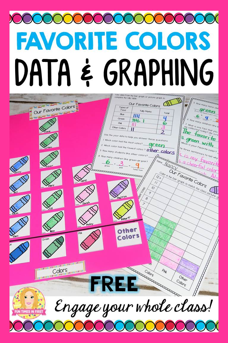 Predownload: Free Graphing Activity Our Favorite Colors Graphing Activities Graphing Graphing First Grade [ 1152 x 768 Pixel ]