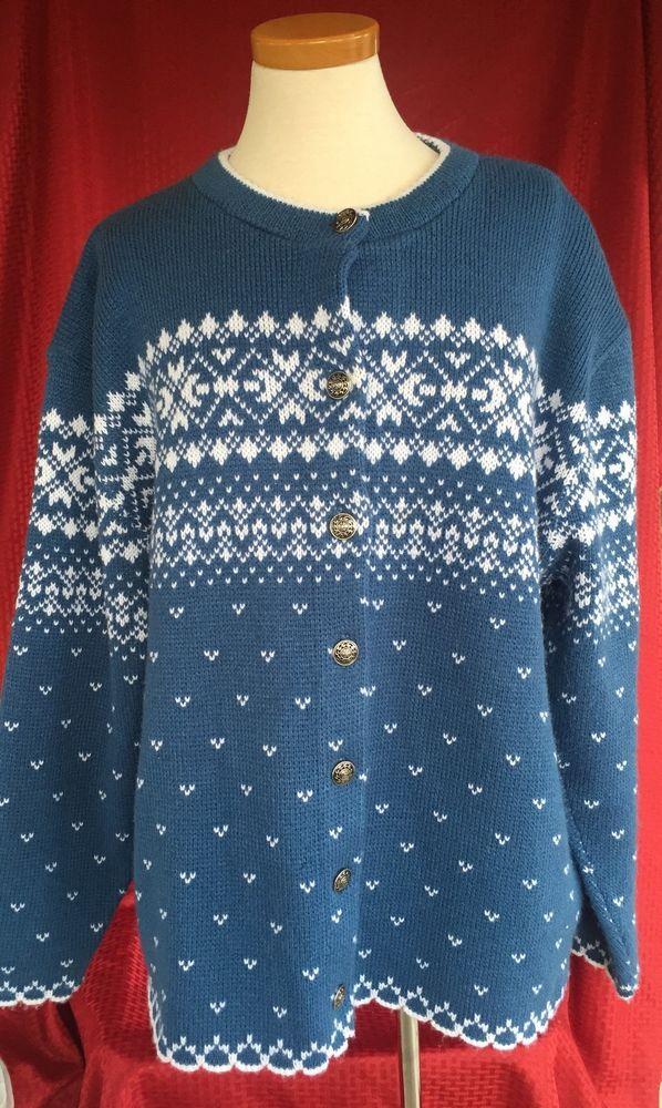Plus 22W Jersild Icelandic Nordic Scandinavian Fair Isle Sweater ...