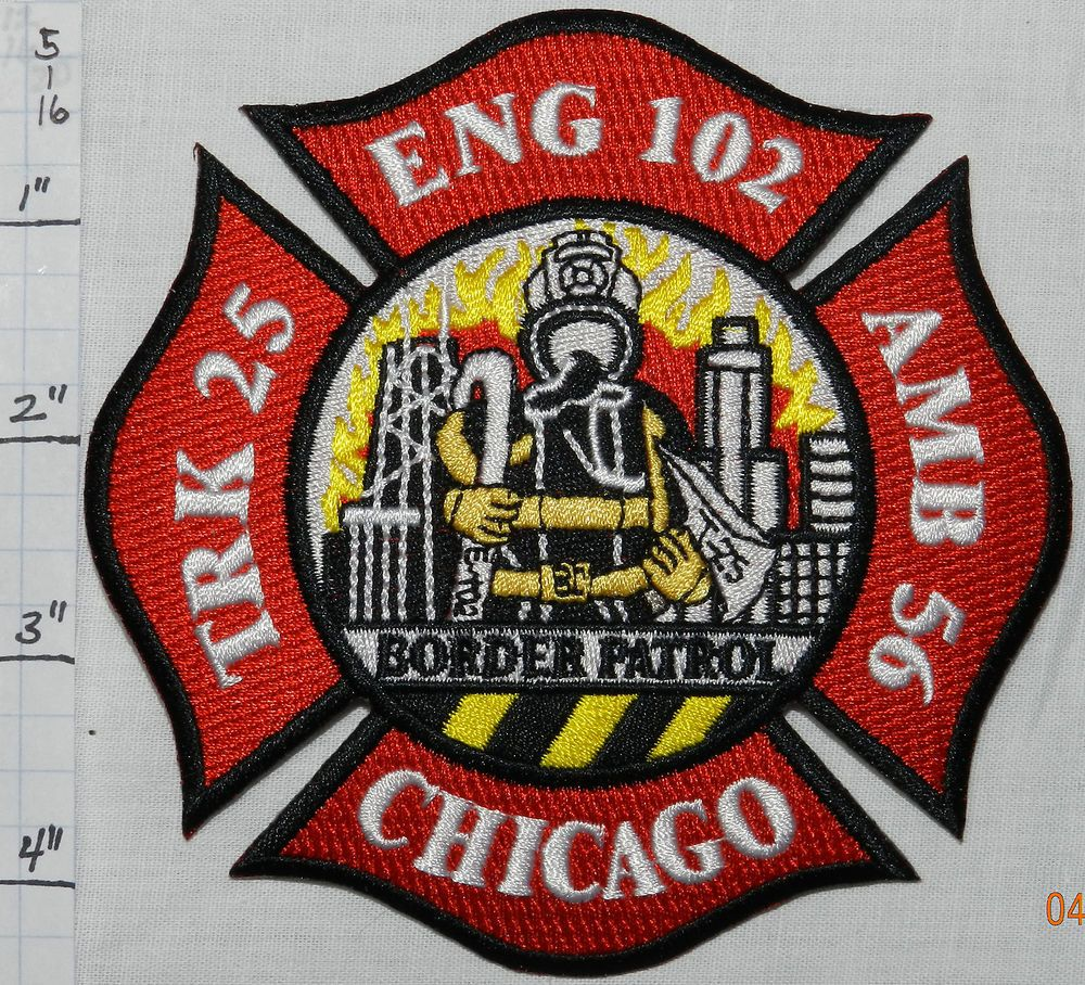 Illinois chicago fire dept engine 102 patch firefighting civil illinois chicago fire dept engine 102 patch biocorpaavc Images