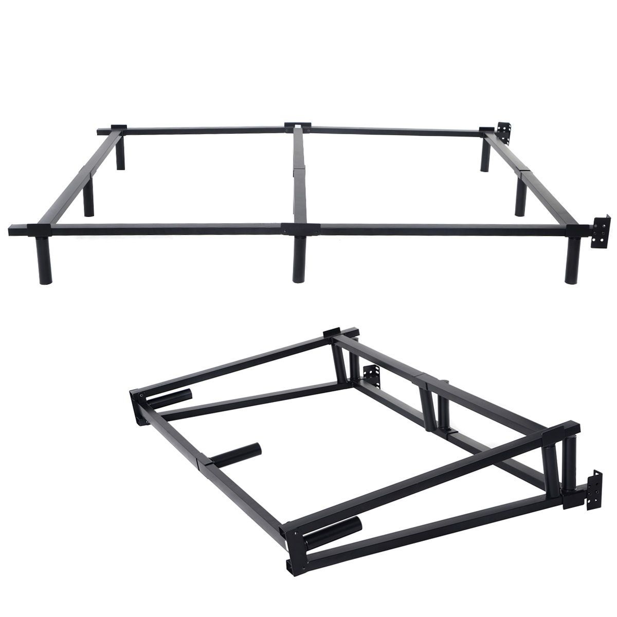 70 X 53 X 7 Full Size Folding Steel Bed Frame Steel Bed Frame