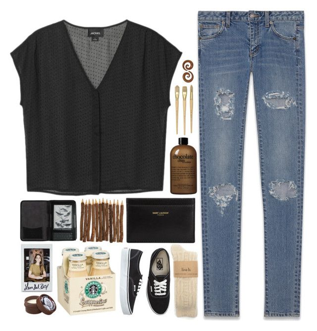 """""""☾ let's not make it complicated."""" by thundxrstorms ❤ liked on Polyvore featuring Monki, Yves Saint Laurent, philosophy, Vans, Cole Haan, The Body Shop, TalisLittleTag, MeenaGotTagged and gottatagrandomn3ss"""