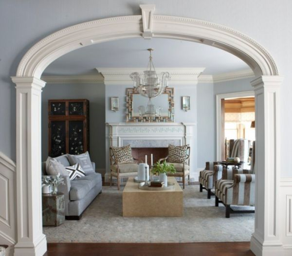 Beautiful Archway Designs For Elegant Interiors Living Room New York Traditional Living Room Elegant Interiors