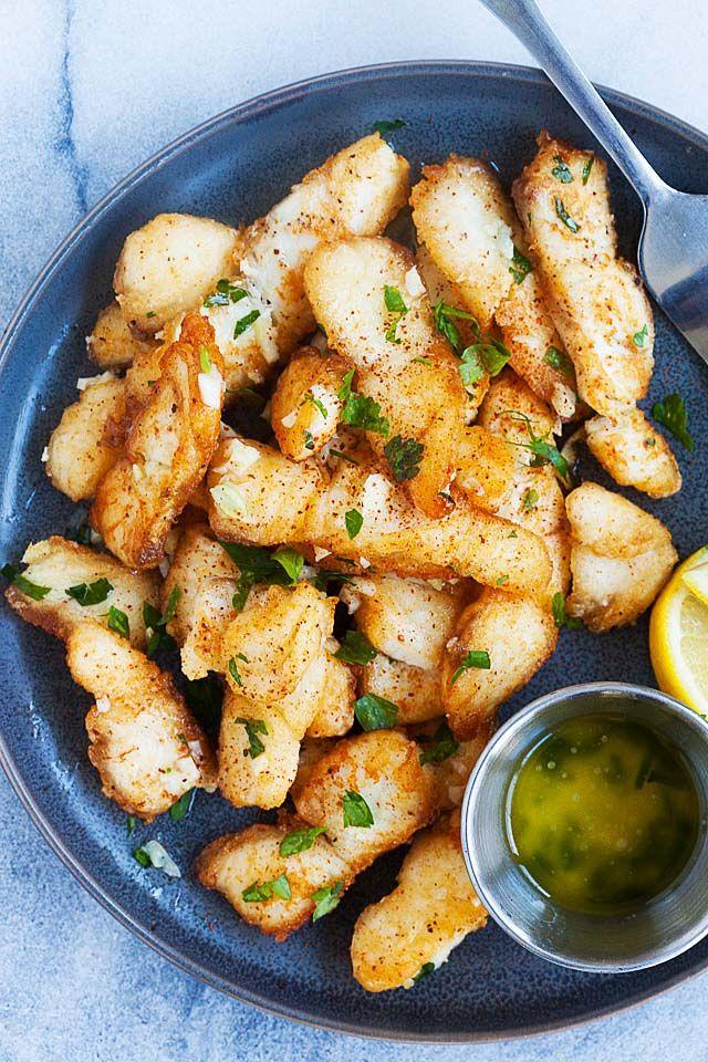 Garlic Butter Fish Di 2020 Makanan Ikan Resep Seafood Resep Makanan