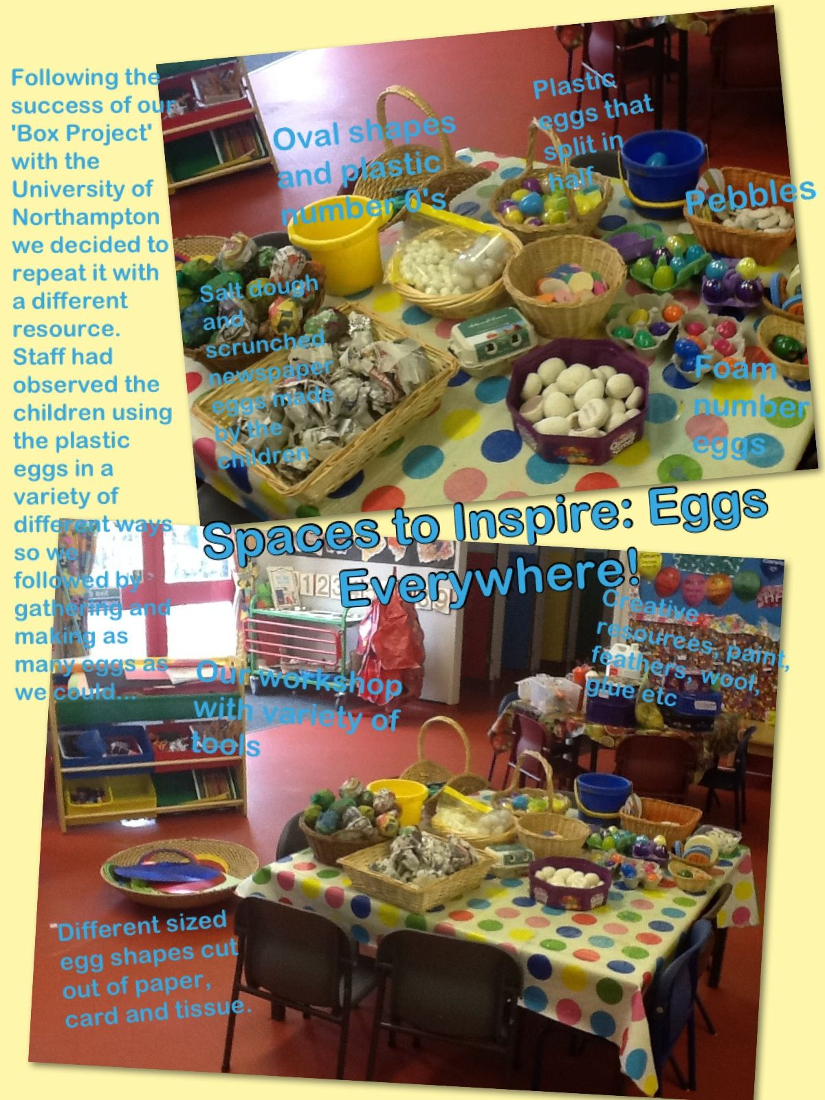 Provocations for learning- eggs