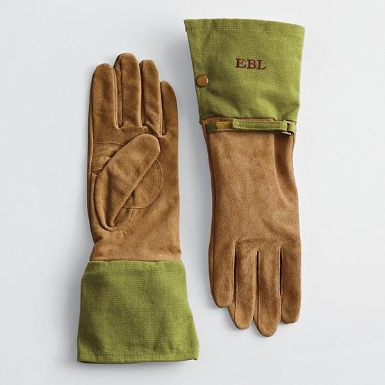 Monogrammed Gardening Gloves Serious Business With Images