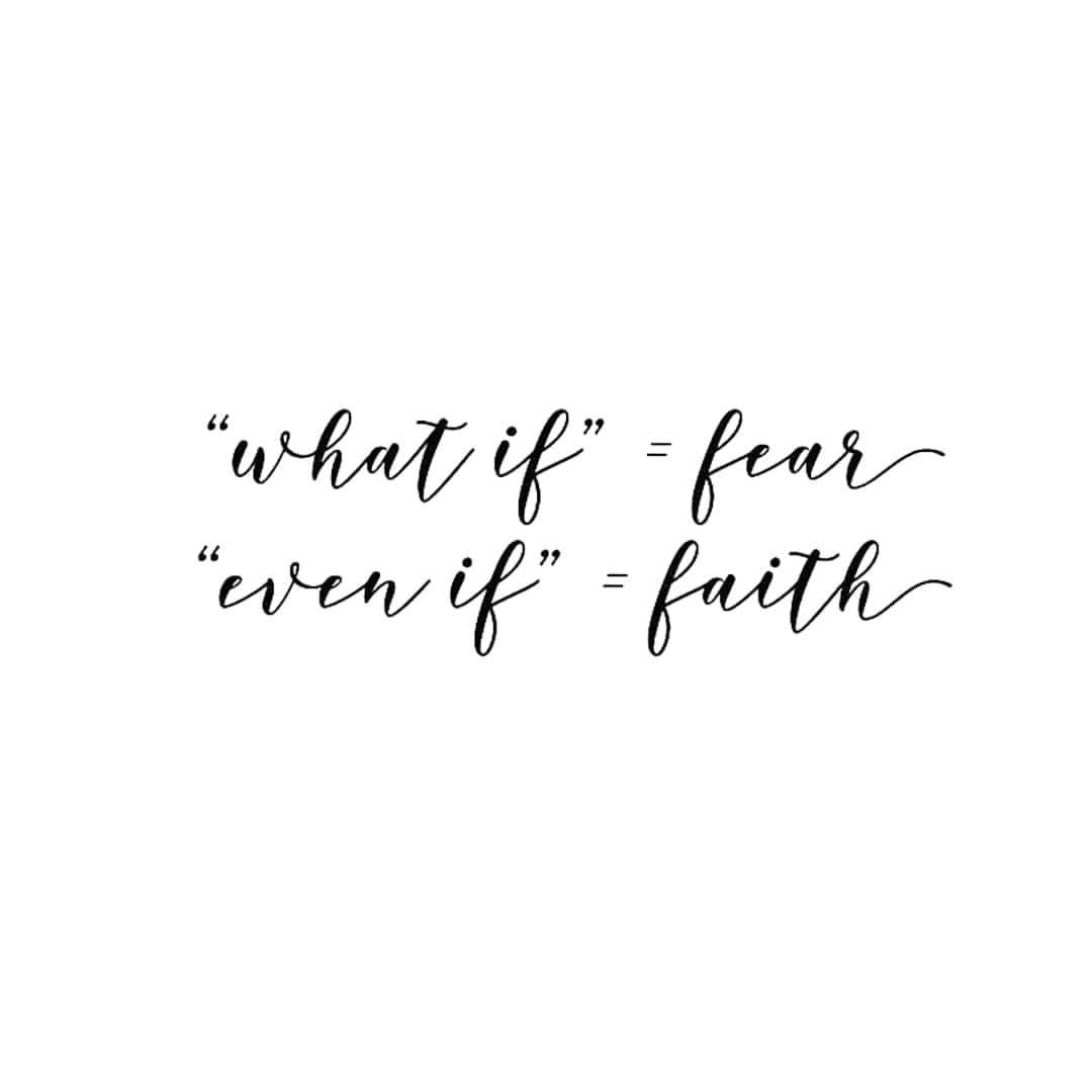 As you prepare for a new week.. Faith is hard guys