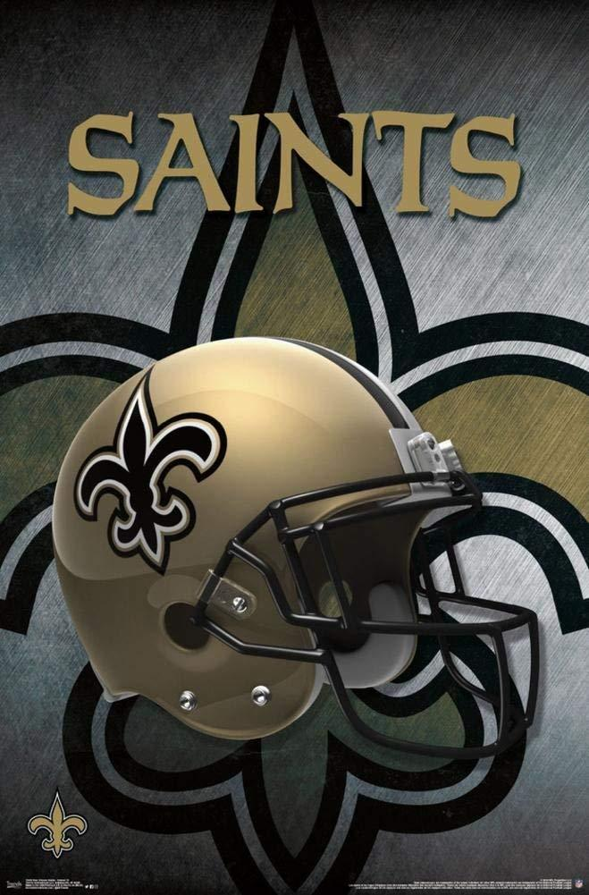 New Orleans Saints Helmet Art 22x34 Football Poster New Orleans