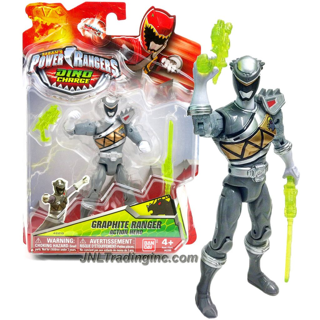 figurine dino charge 12 cm graphite ranger de power rangers. Black Bedroom Furniture Sets. Home Design Ideas