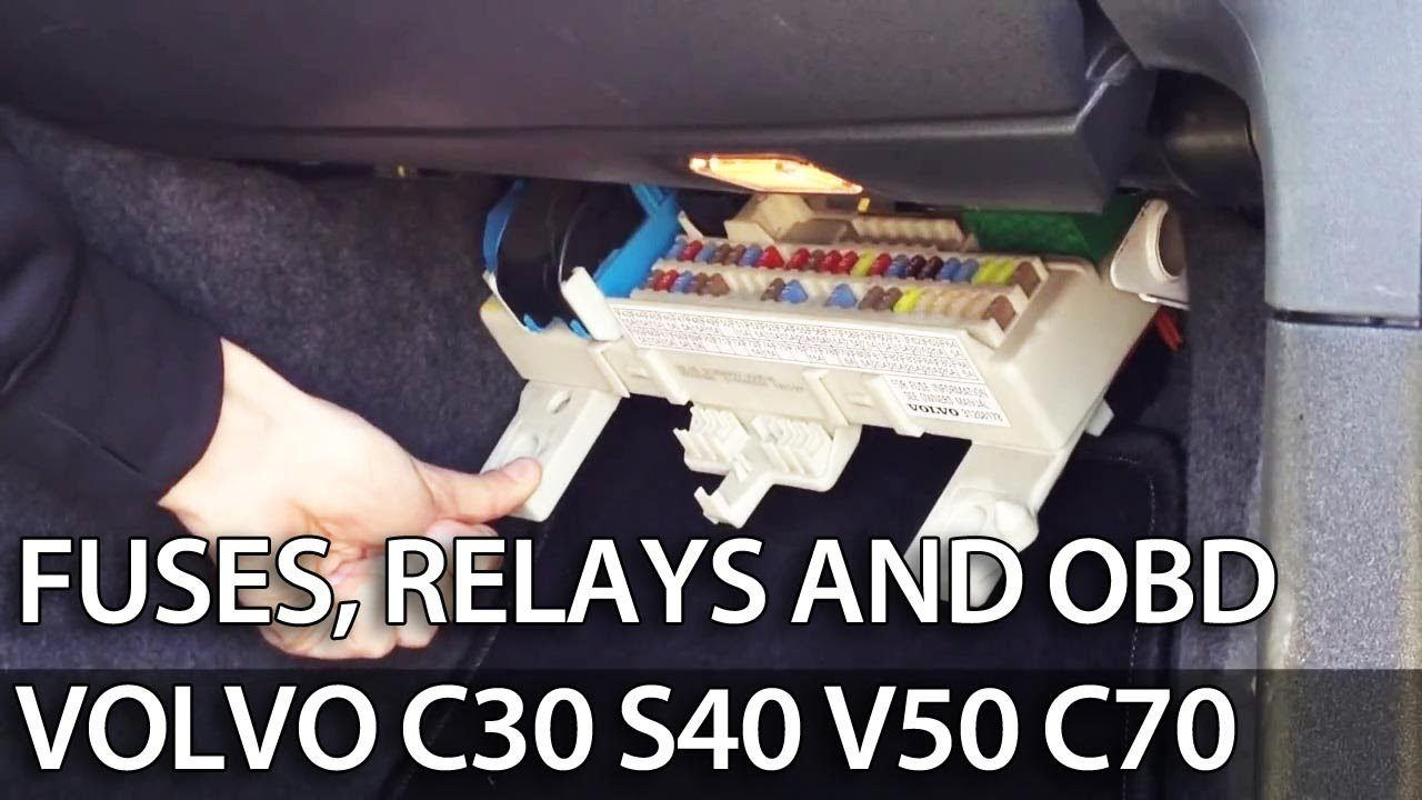 Where to find fuses, relays and OBD port in #Volvo C30 S40 V50 C70 (fuse box ).