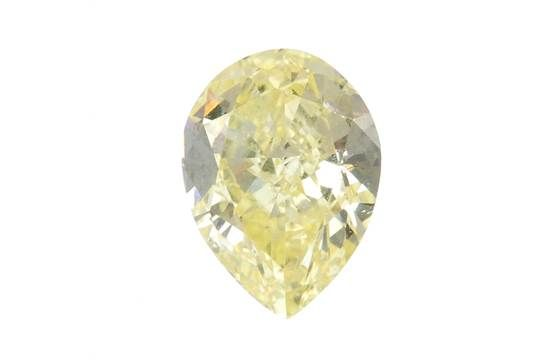 A pear-shape 'coloured' diamond, weighing 1.02cts. Accompanied by report number 14782826, dated 1