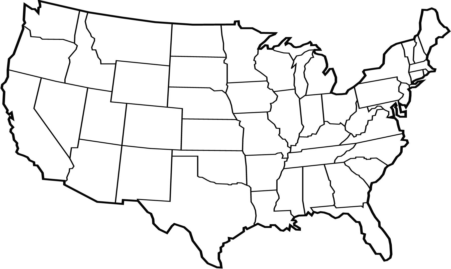 Us map free vector