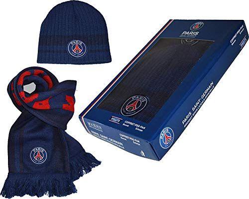 171e7d986efd bonnet Bleu Officielle Echarpe Licence Coffret Psg w5qROzY