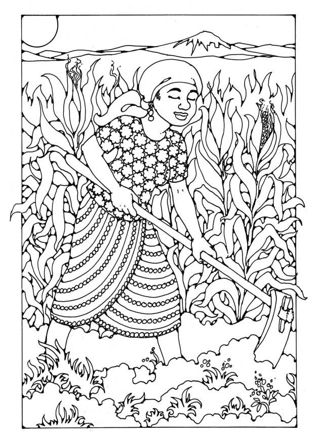 Icolor Around The World 620 875 Agricultura Dibujos Dibujos Agricultora