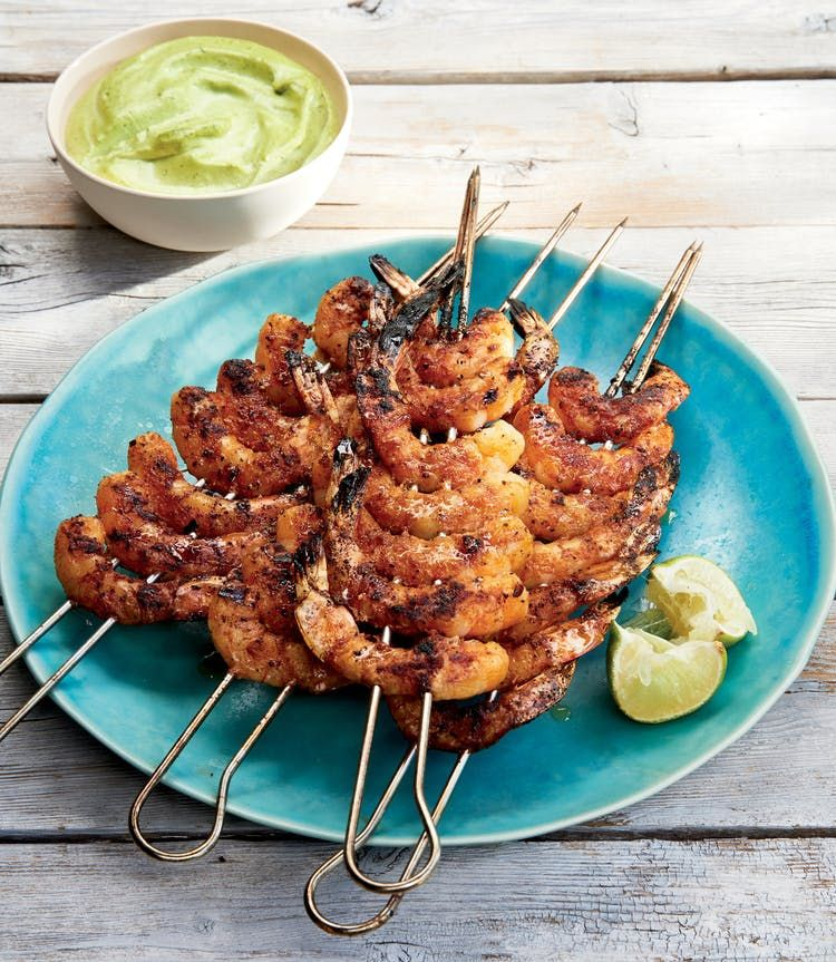 Juicy Shrimp With Roasted Chile And Avocado Sauce Seafood Recipes Recipe Juicy Shrimp Grilled Seafood Recipes Seafood Recipes
