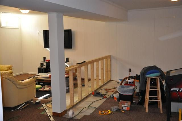 building a half wall (With images) | Diy house projects ...