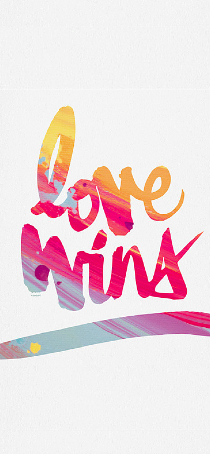 Color art words - Kal Barteski Love Wins Colour Art Print
