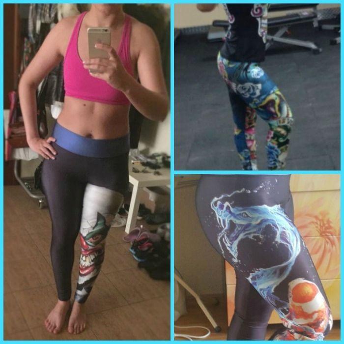 7b2f855a085 Charming 3D Printed fitness leggings best Plus size leggings for women