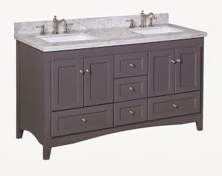 This Grey Painted Bathroom Vanity By Kitchen Bath Collection Has The Por Look For