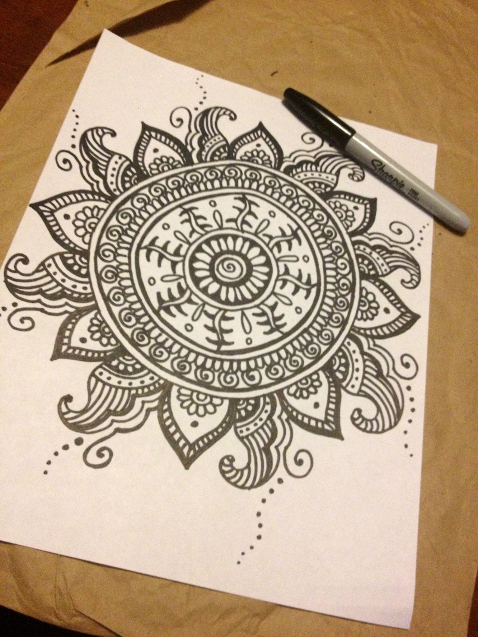 Making A Mandala Meditation Coloring Book This Is One Of The Designs