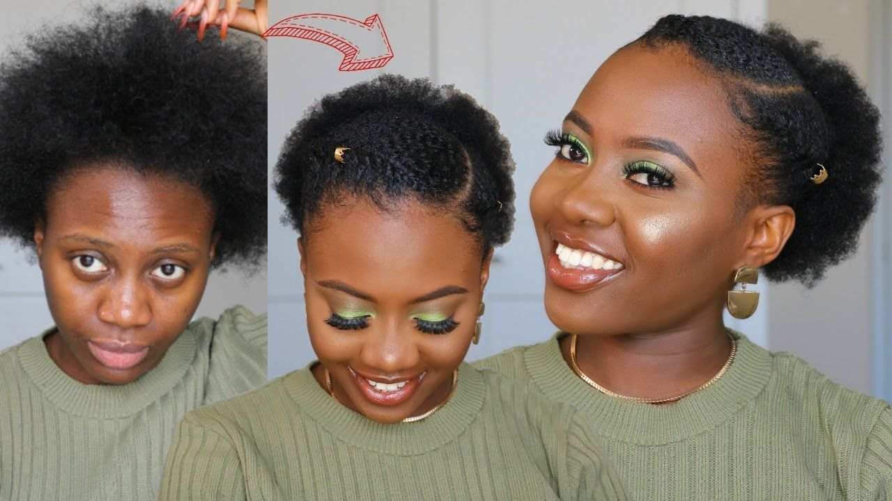 No Cornrows 5 Mins Easy Everyday Natural Hairstyle On Short 4c Hair No Extensions Yout In 2020 Natural Hair Styles Natural Hair Styles Easy Cornrows Natural Hair
