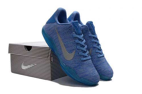 new style 0783d 93d69 Fashion Kobe 11 Nike Flykint Blue Lagoon Navy Blue Silver