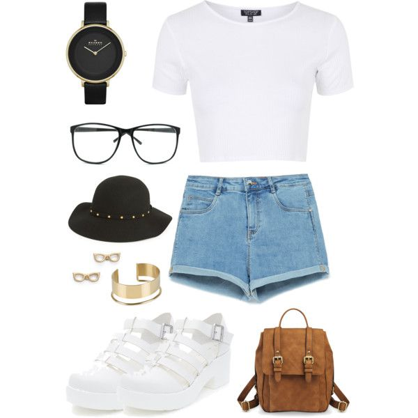 6 by tay-steph on Polyvore featuring polyvore, fashion, style, Topshop, Zara, Skagen, By Malene Birger, Kate Spade and San Diego Hat Co.