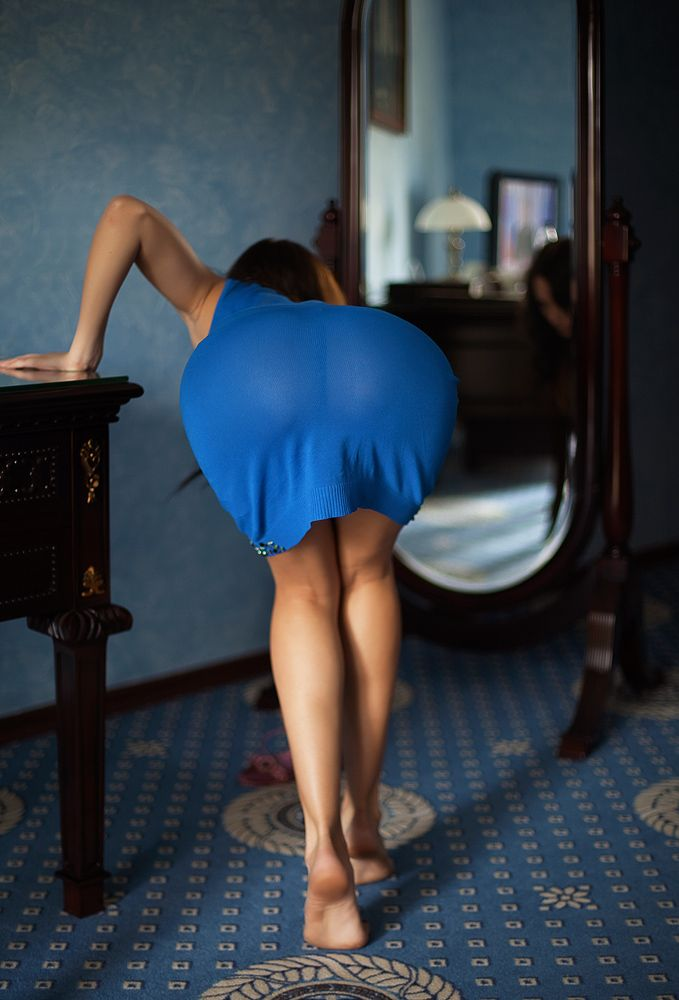 MILF Bent over cart Ass