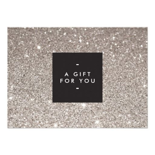 Glamorous Silver Glitter Modern Beauty Gift Card Zazzle