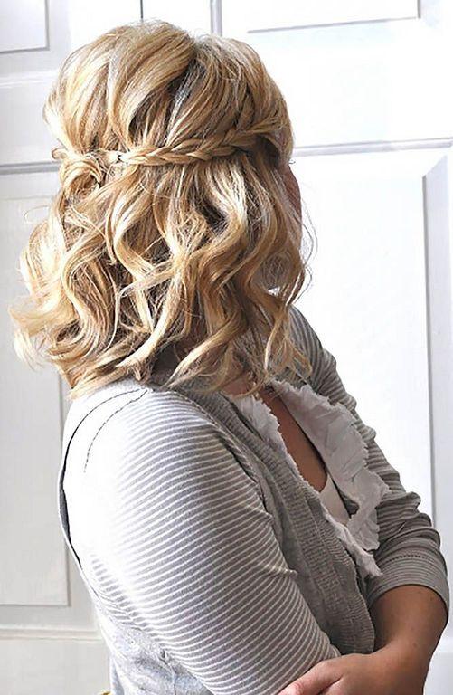20 Beautiful Bridesmaid Hairstyle Ideas For Short Hair Prom Hairstyles For Short Hair Medium Hair Styles Short Wedding Hair