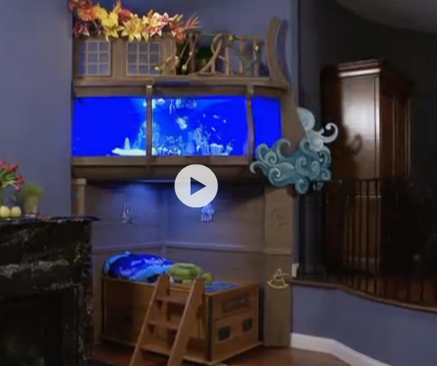 This is the cutest thing. EVER. It's a fish tank, with a