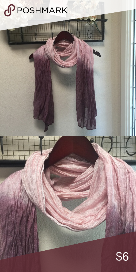 Purple ombré scarf Has silver stitching on ends. Never used Accessories Scarves & Wraps