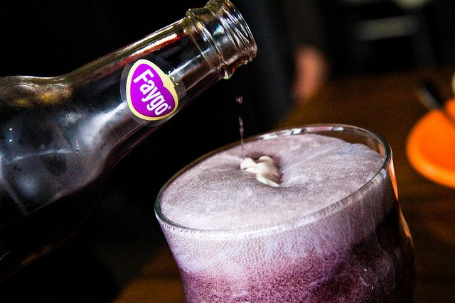 Purple Cow Float Faygo Grape Pop Green Well Lunch October 20, 20116 by stevendepolo, via Flickr