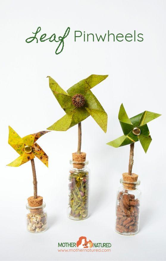 DIY leaf pinwheels you'll love making - Mother Natured