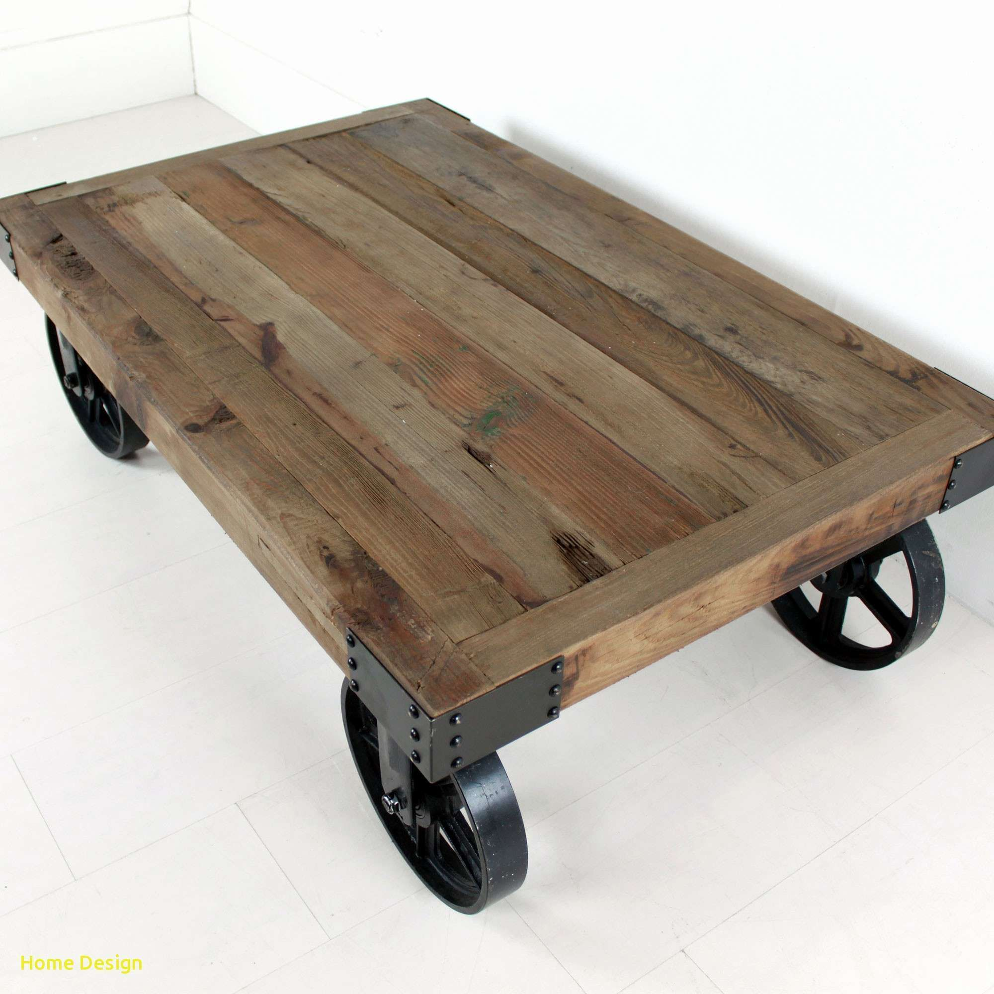 Elegant Industrial Coffee Table With Wheels Homedesign Homedecor