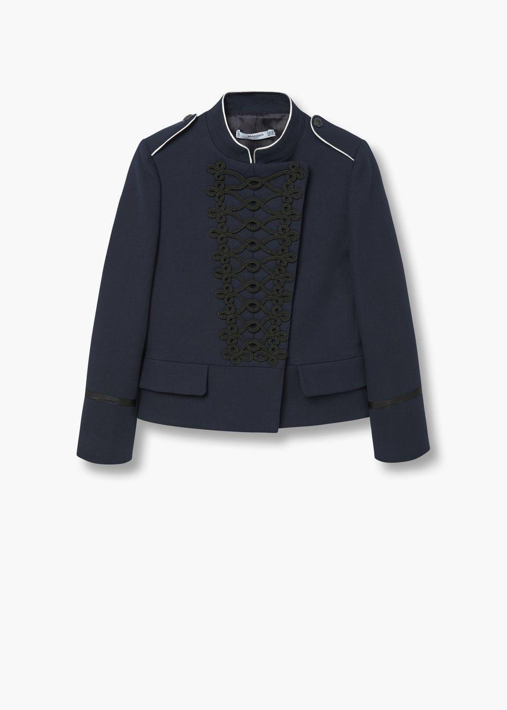 a291d9d7d65 Double-breasted jacket | MANGO Fur Jacket, Burberry Jacket, Military Style  Jackets,