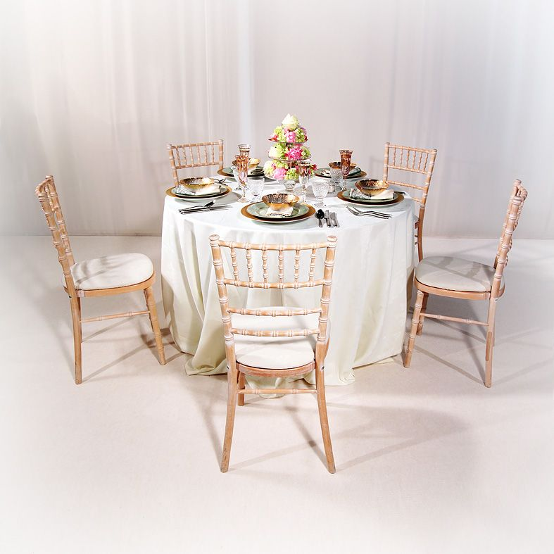 Limewash Chiavari Chairs Hire School For Sale Set Around A 4ft Table Wedding