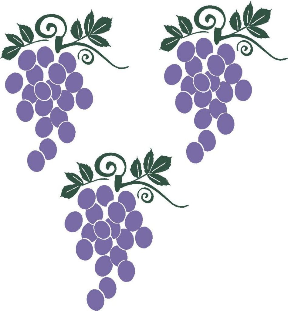 Grapes Fruit Wall Stickers Vinyl Kitchen Decor Decal | *GRAPEs ...