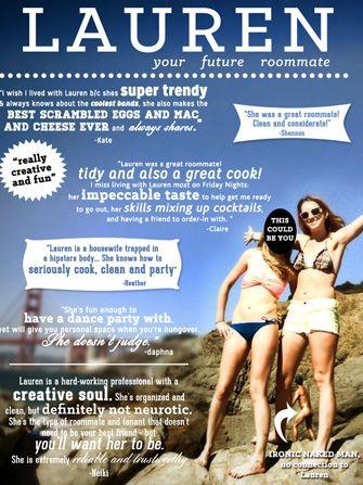 Creative Craigslist Roommate Ad San Francisco Roommate Ads Creative