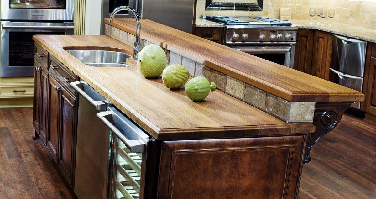 Teak Wood Raised Bar Designs , Kitchen Island Raised Bar Designs In Kitchen  Category