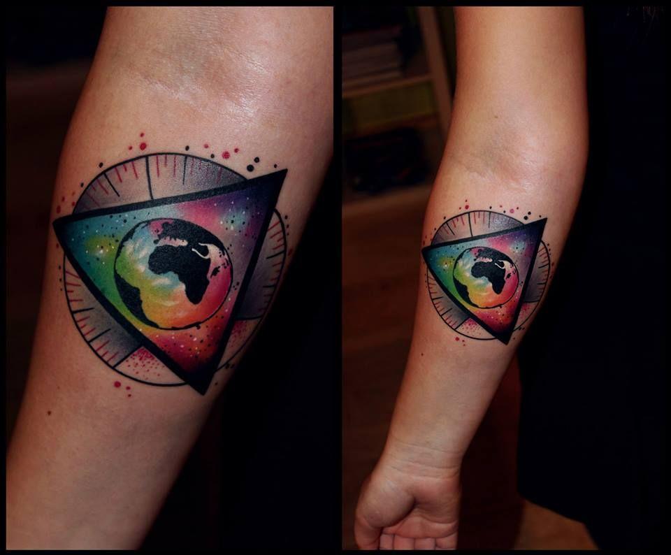 #tattoostudio #nadelwerk #earth #sleeve #colour #tattoo # ...