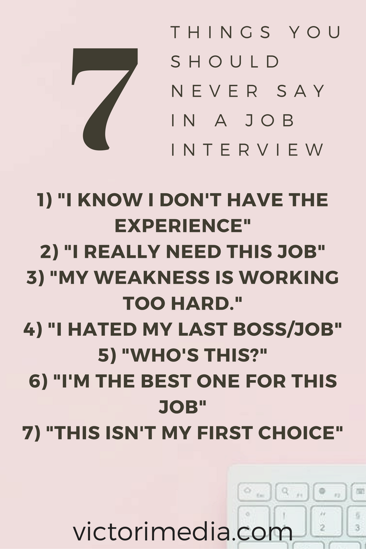 Job Interview Tips  Job Search Tips  What To Say In A Job