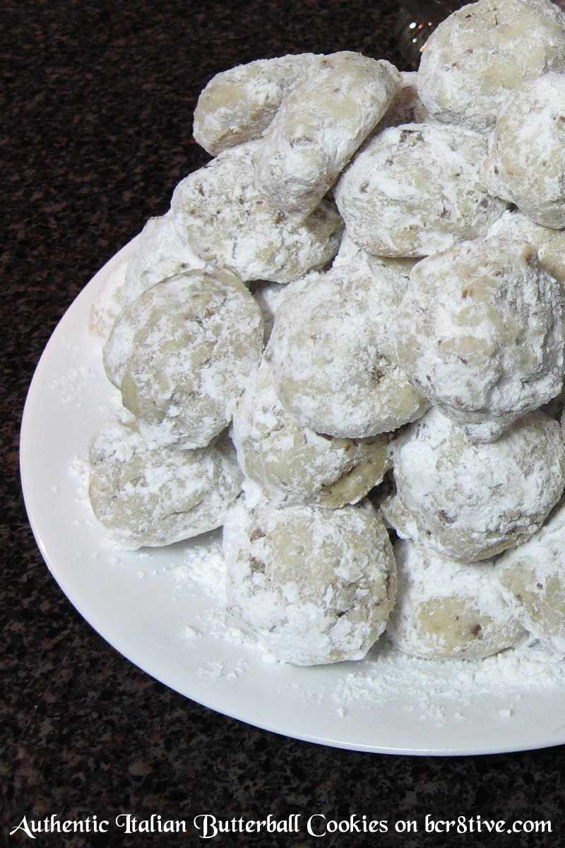 Authentic Italian Butterball Cookies | Italian cookies | Pinterest ...