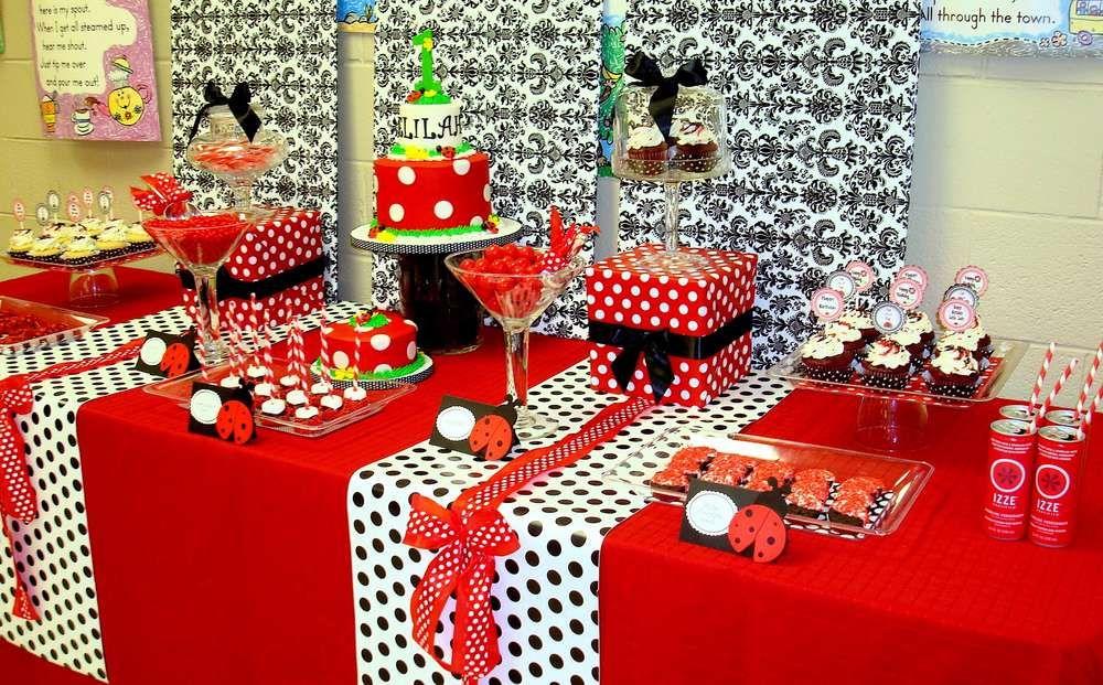 Ladybug Birthday Party Ideas Birthday party ideas and Birthdays