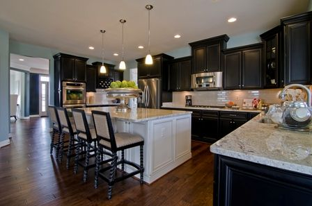 Kitchen Island Different Color Than Cabinets kitchens with two different colored cabinets |  at creighton