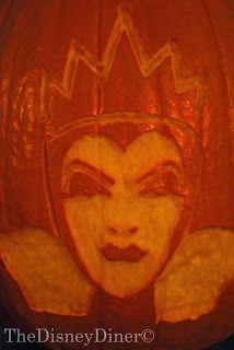 evil queen pumpkin template  The Disney Diner: Evil Queen Pumpkin Carving Template ...
