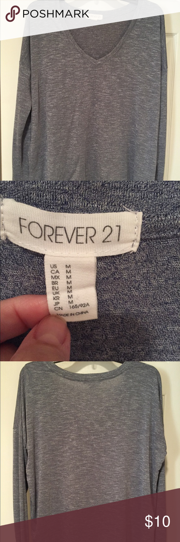 F21 Long Sleeve T Heather blue / Size medium / like new