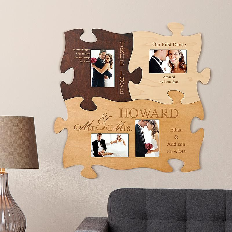 Mr And Mrs Puzzle Set Puzzle Piece Crafts Photo