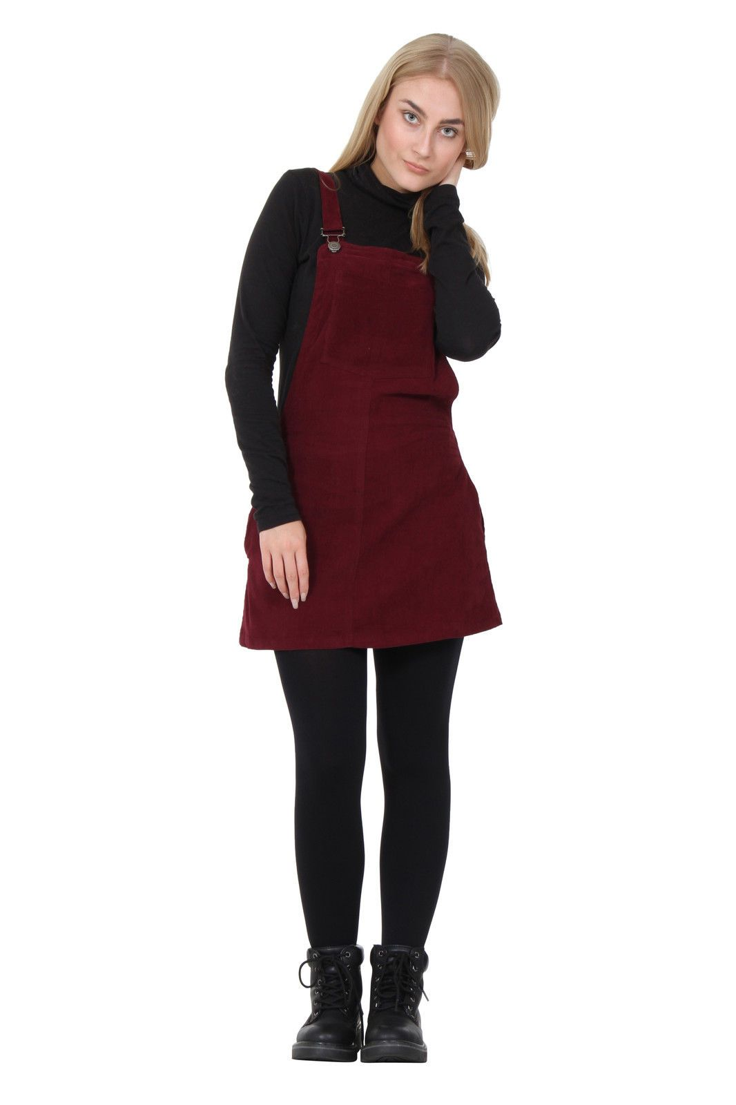 3f1cb2b0e5 Corduroy Dungaree Dress lightweight burgundy Bib overall skirt short with  bib